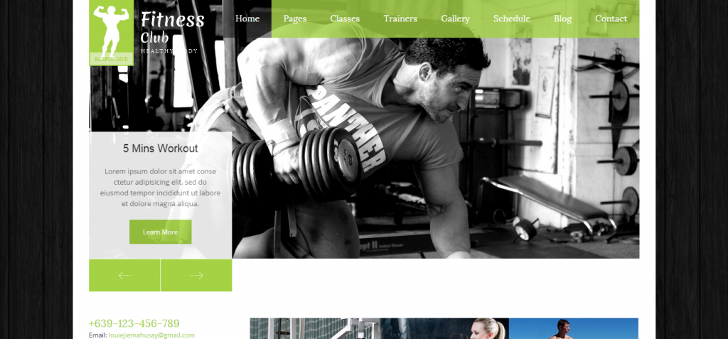 Fitness Club   Responsive Gym Template