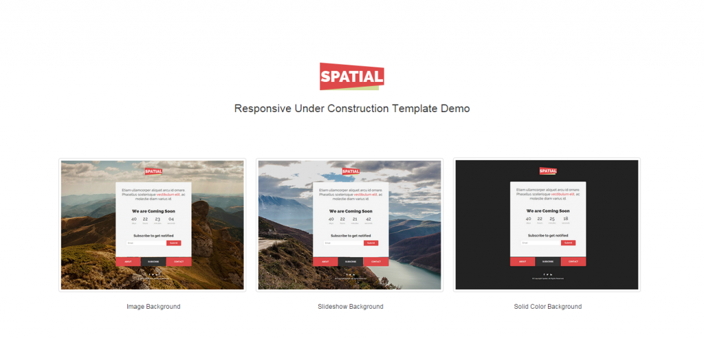 Free Responsive New Coming Templates