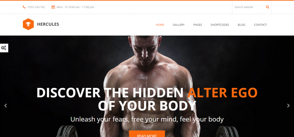 Hercules Sport and Fitness HTML Templates