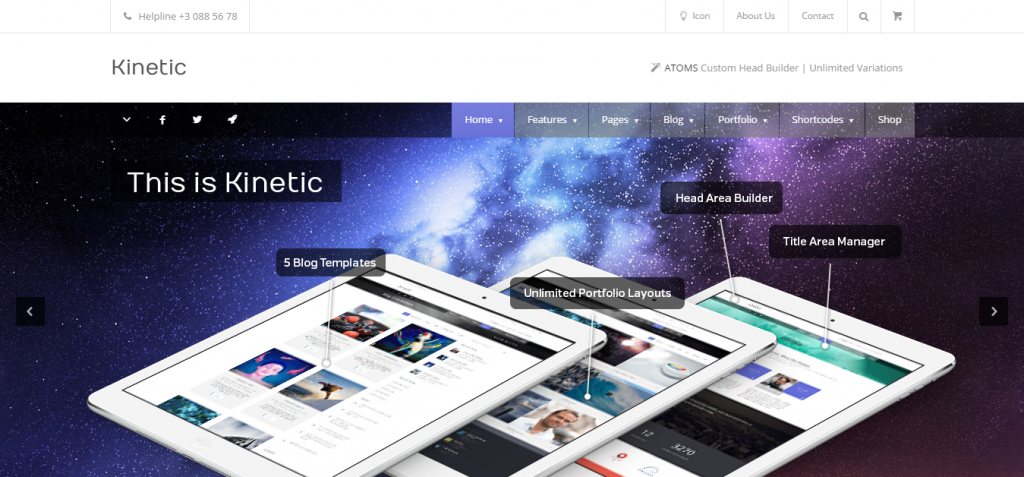 Kinetic Architecture WordPress Theme