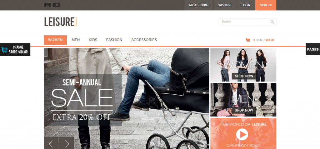 Leisure Magento Theme