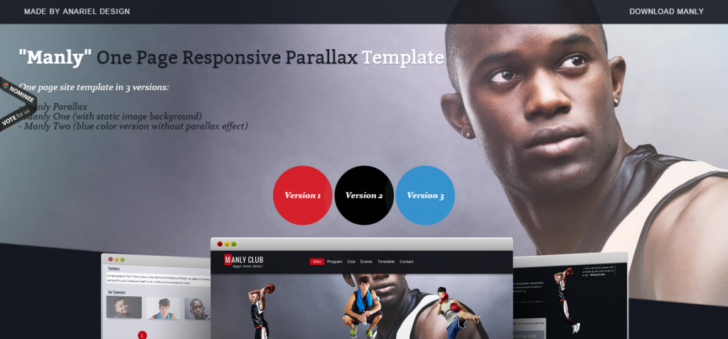 Manly Responsive Site Template