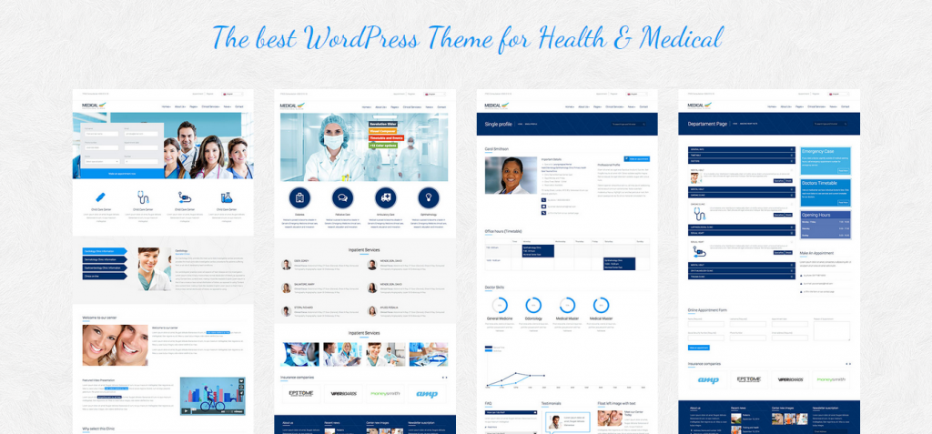 Medical Responsive Premium WordPress Theme for Doctors and Dentists