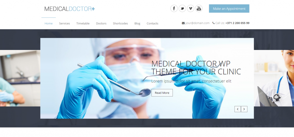 MedicalDoctor WordPress theme