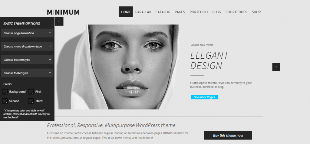 Minimum A premium wordpress theme
