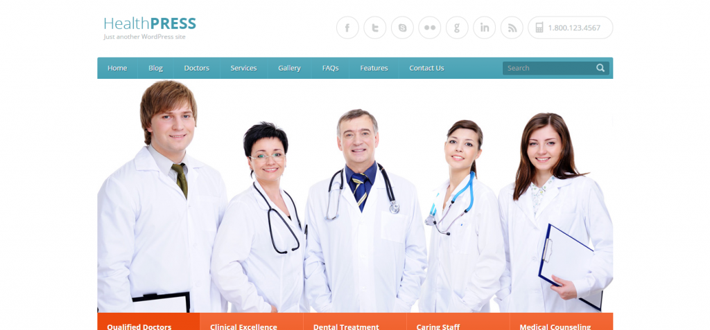 Modern Dentistry WordPress Theme