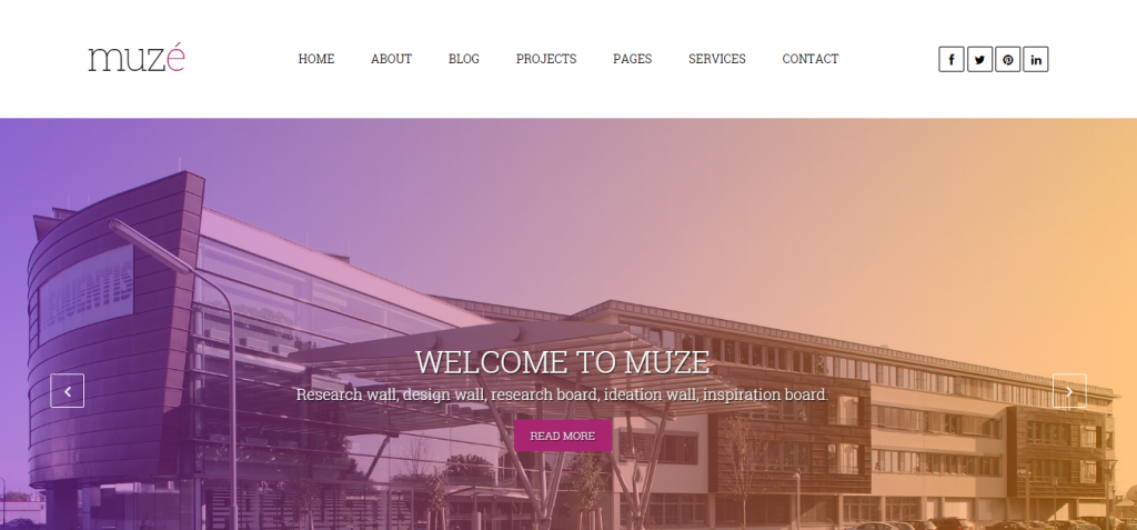 Muze Architecture WordPress Theme