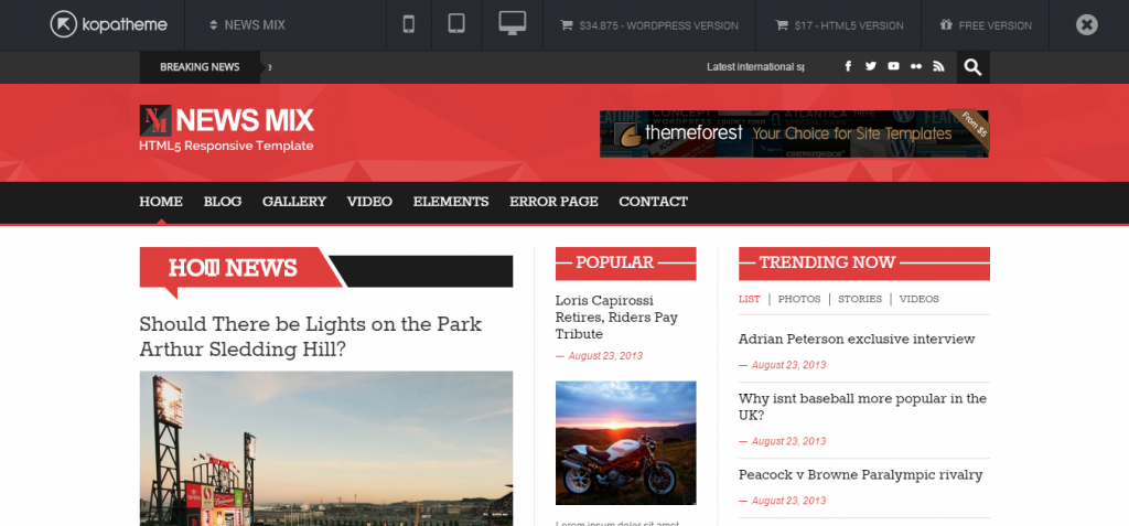 News Mix Magazine WordPress Theme   KOPA THEME