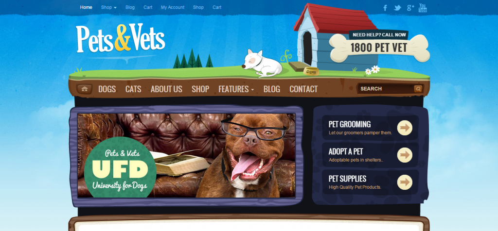 Pet Animal WordPress Themes
