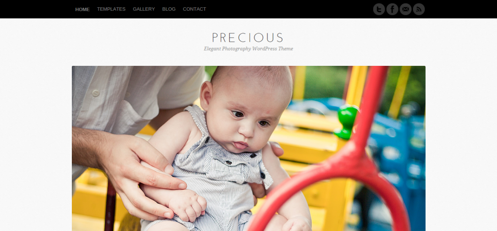 Precious Elegant Photography WordPress Theme