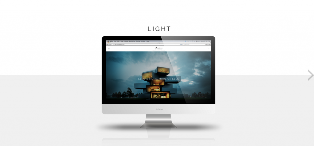 Rayleigh Minimalistic and Elegant WordPress Theme