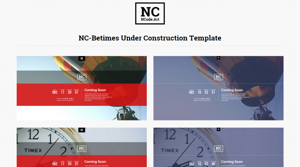 Responsive New Coming Templates