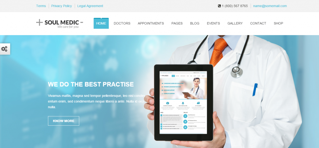SoulMedic Flat Responsive Medical Health Theme