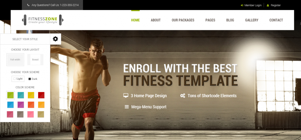 Sport and Fitness HTML Templates