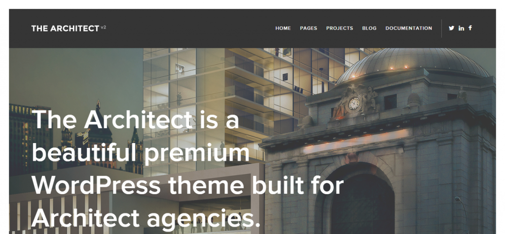 The Architect v2 WordPress theme for Architects
