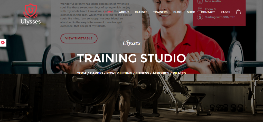 Ulise Sport and Fitness HTML Templates