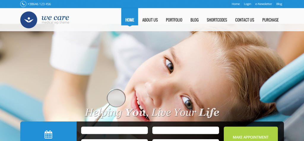 WeCare – The medical theme