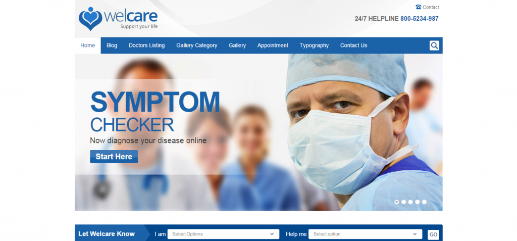 Welcare Medical WordPress Theme