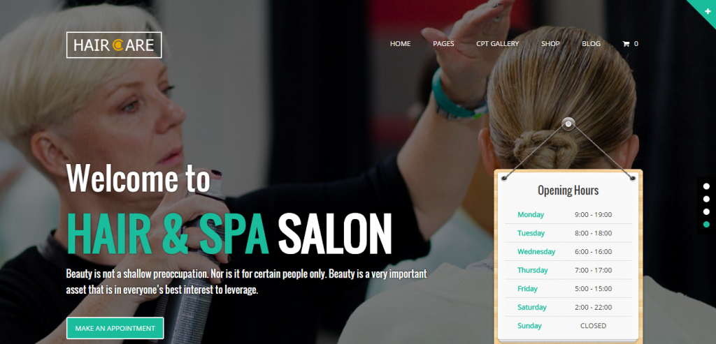 37 Hair Salon WordPress Themes | Weelii