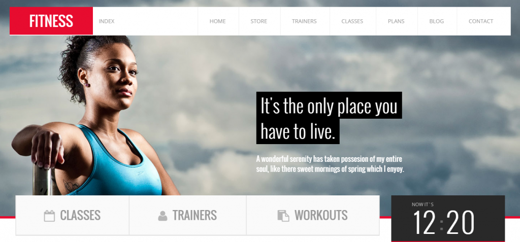 bold Sport and Fitness HTML Templates