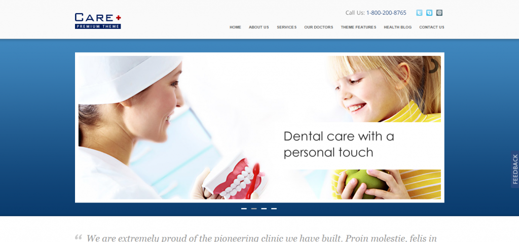 careDentistry WordPress Themes