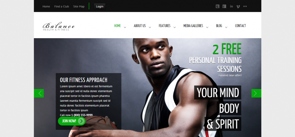 demo Sport and Fitness HTML Templates