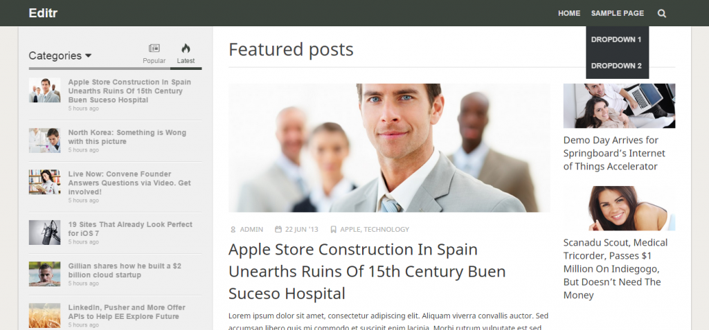 editr Architecture WordPress Theme