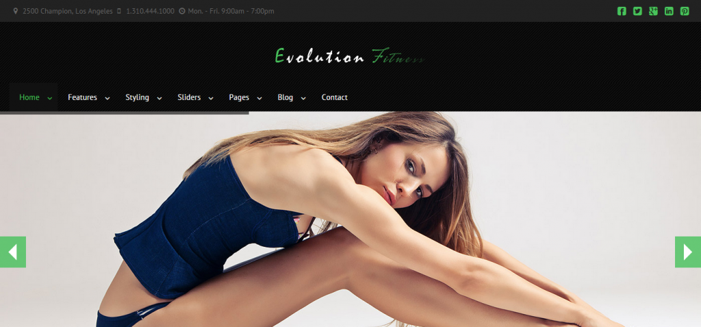 evolution Sport and Fitness HTML Templates