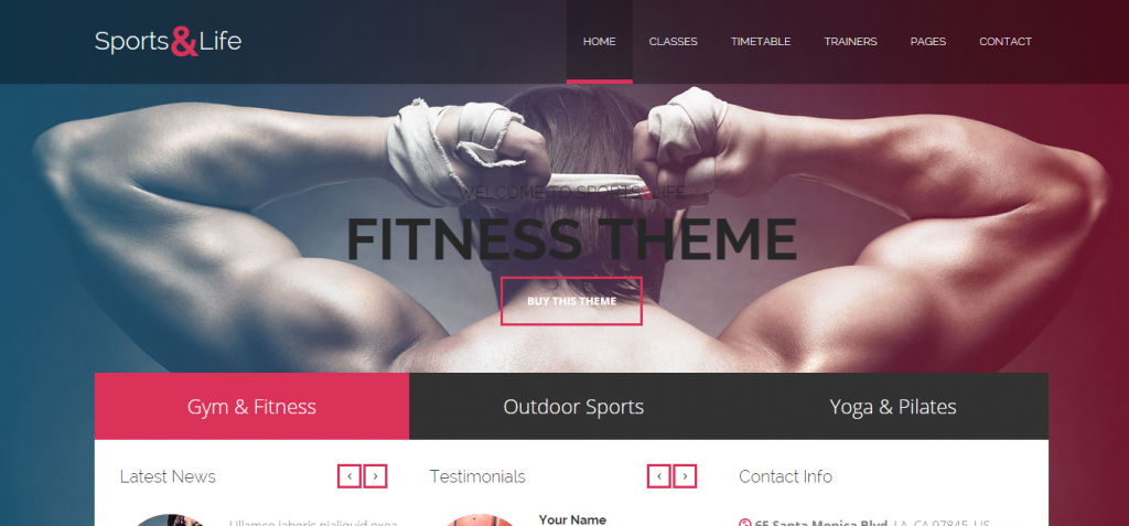 life Sport and Fitness HTML Templates