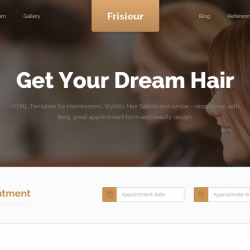 premium Hair Salon HTML Templates