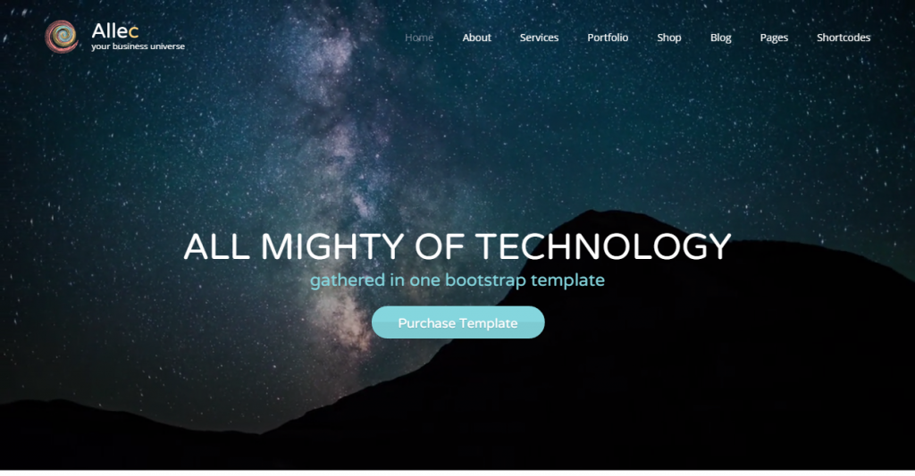 Allec Bootstrap LESS Template with Site Builder