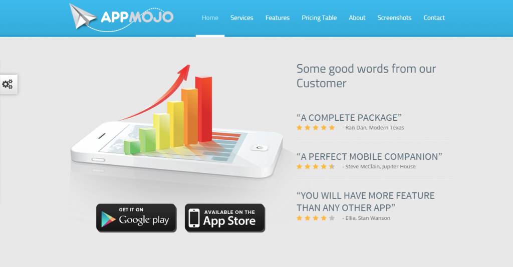 App Mojo Single Page Software Promotion HTML