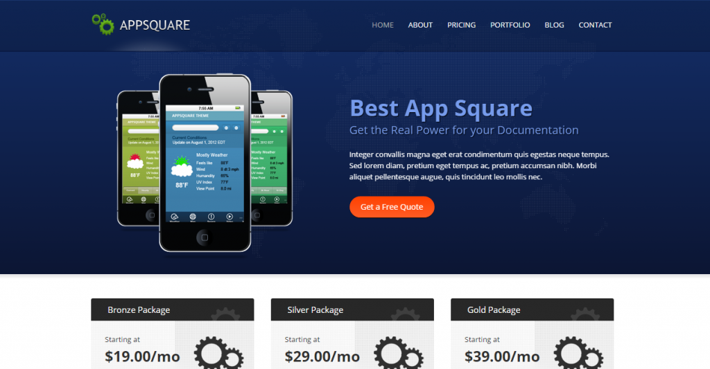 AppSquare Software and Hosting HTML Template
