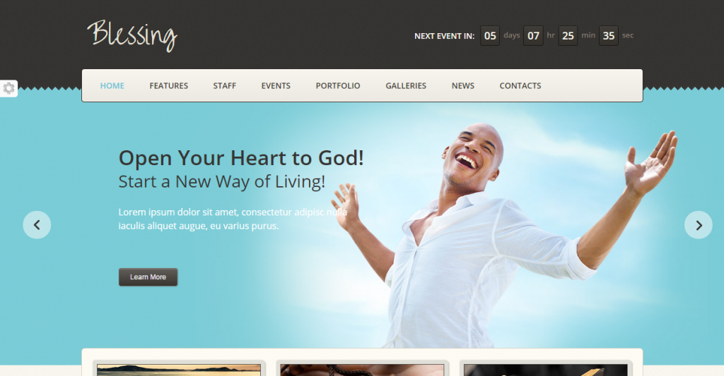 Blessing Responsive HTML5CSS3 Template