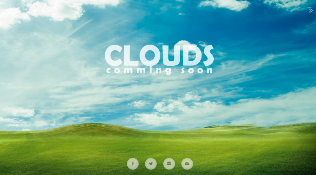 Clouds 3d Interactive Coming Soon Page