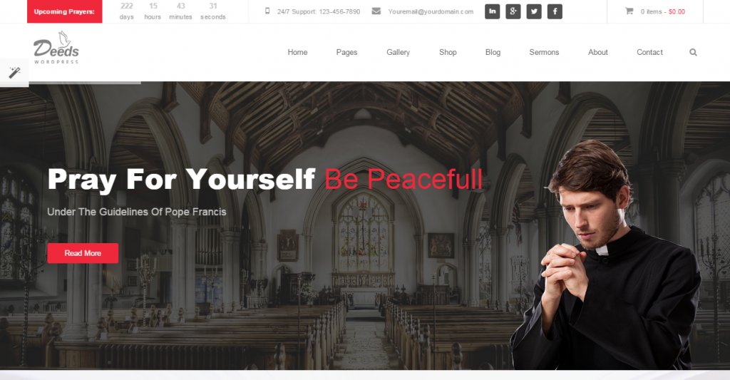 Deeds Simple Nonprofit Church Website Template
