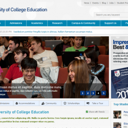 Education University HTML Templates