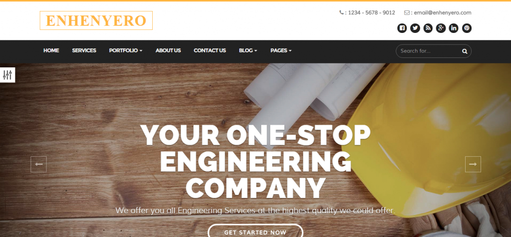Enhenyero Engineering Industrial WordPress Theme