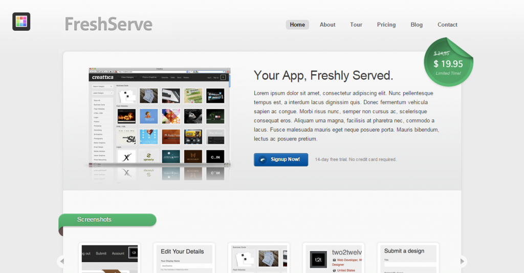 FreshServe A Web App SaaS Website Theme