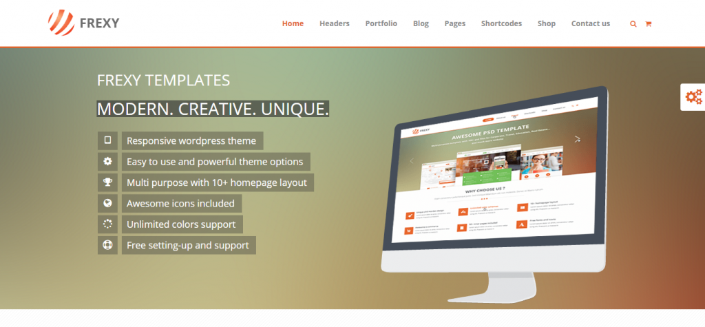 Frexy Responsive Multi-Purpose Theme