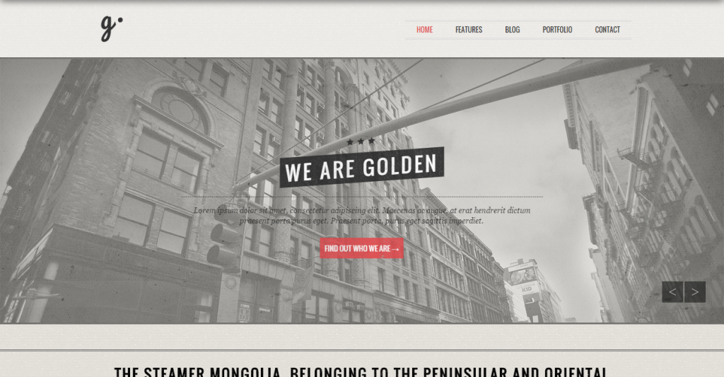 GOLDEN Responsive Vintage HTML5 CSS Template