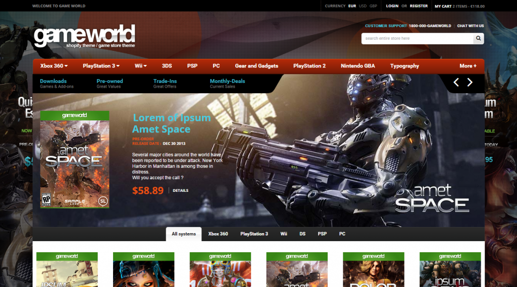 GameWorld Responsive HTML Theme