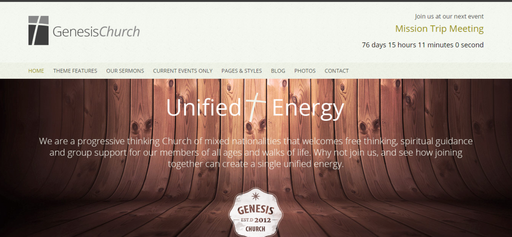 Genesis Church Premium Responsive WordPress Them