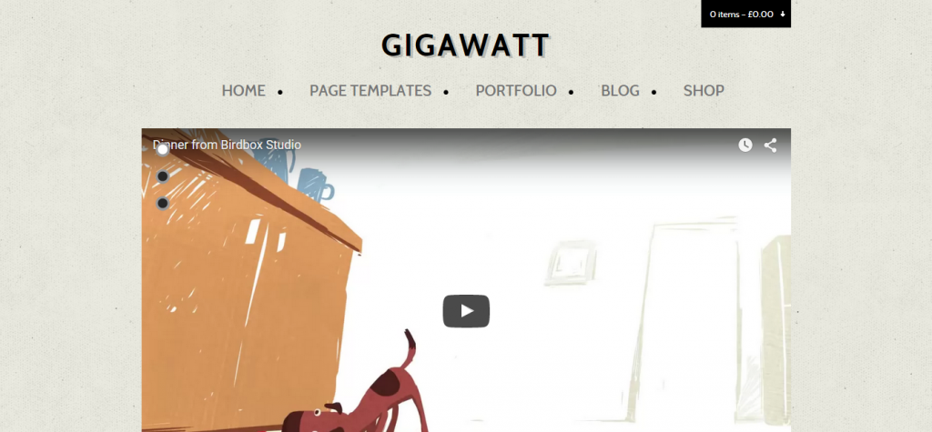 Gigawatt WordPress Video Theme