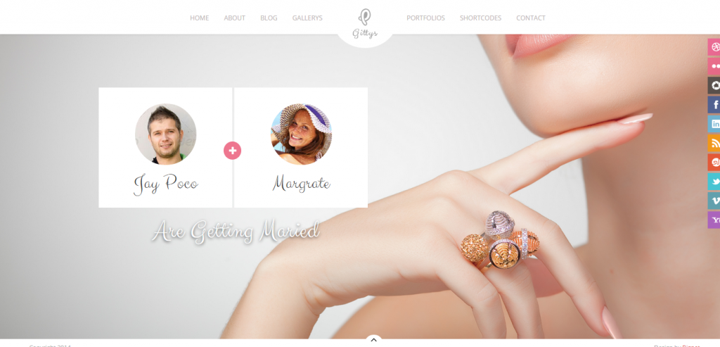 Gittys Responsive Wedding & Event Template