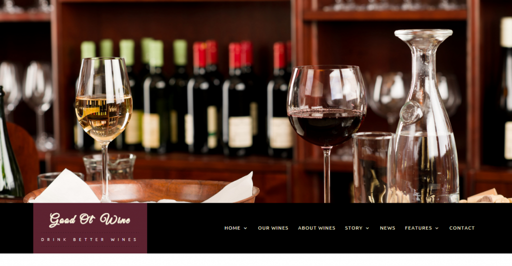 Good Ol` Wine Wine & Winery WordPress Theme