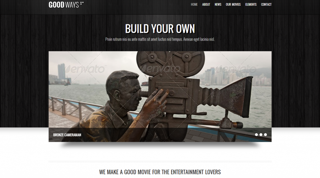 Goodways Entertainment and Film WordPress Theme