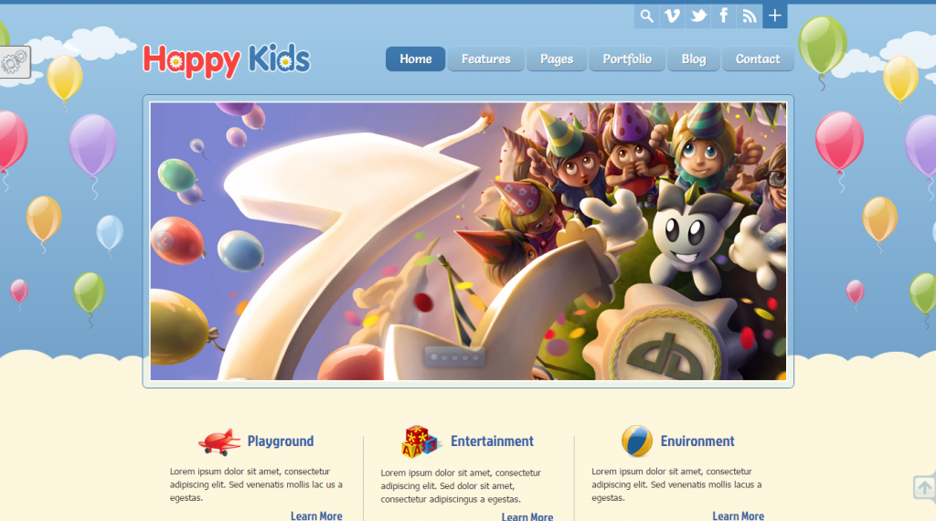 Happy Kids Premium HTML5 CSS3 Template