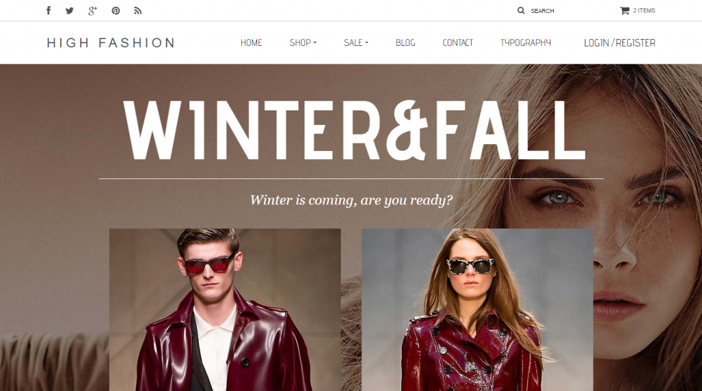 High Fashion Responsive HTML Theme Parallax