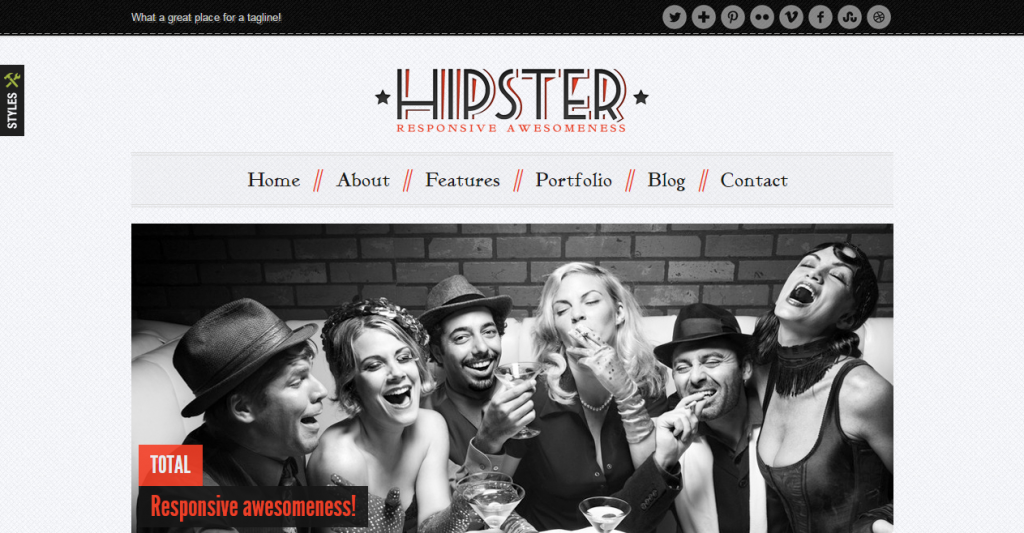 Hipster Retro Responsive HTML5 Template